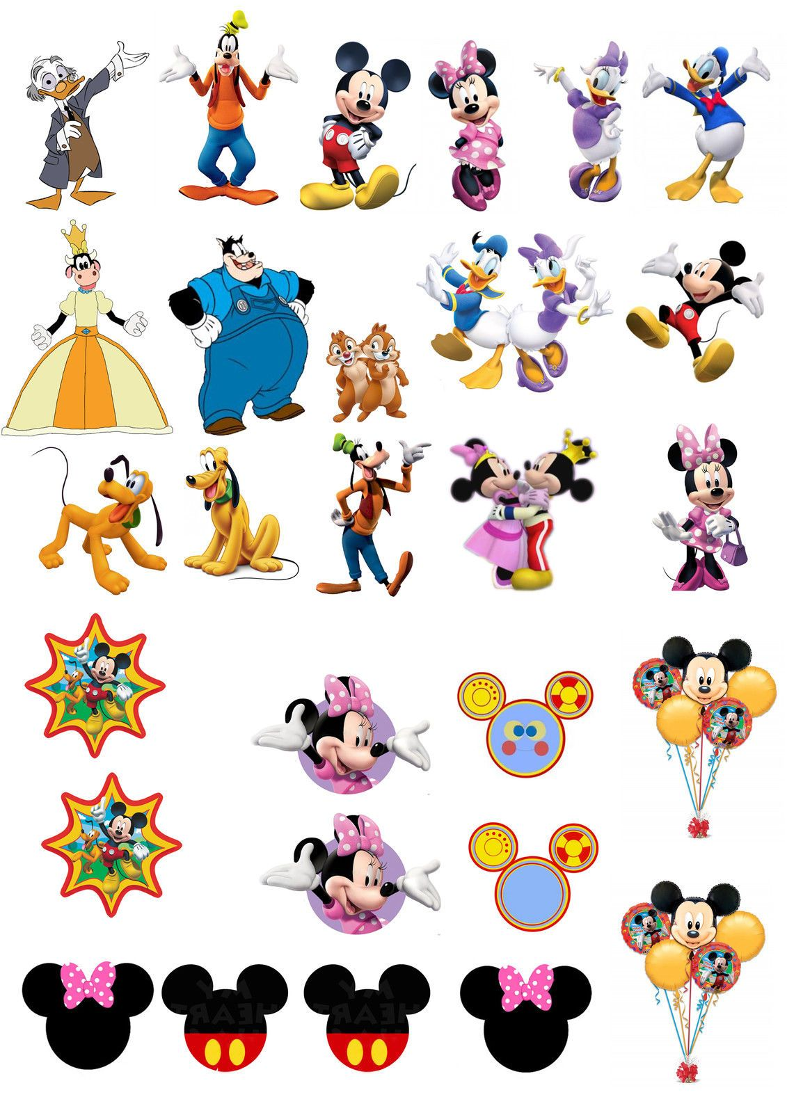 Disney Clubhouse Cake Toppers